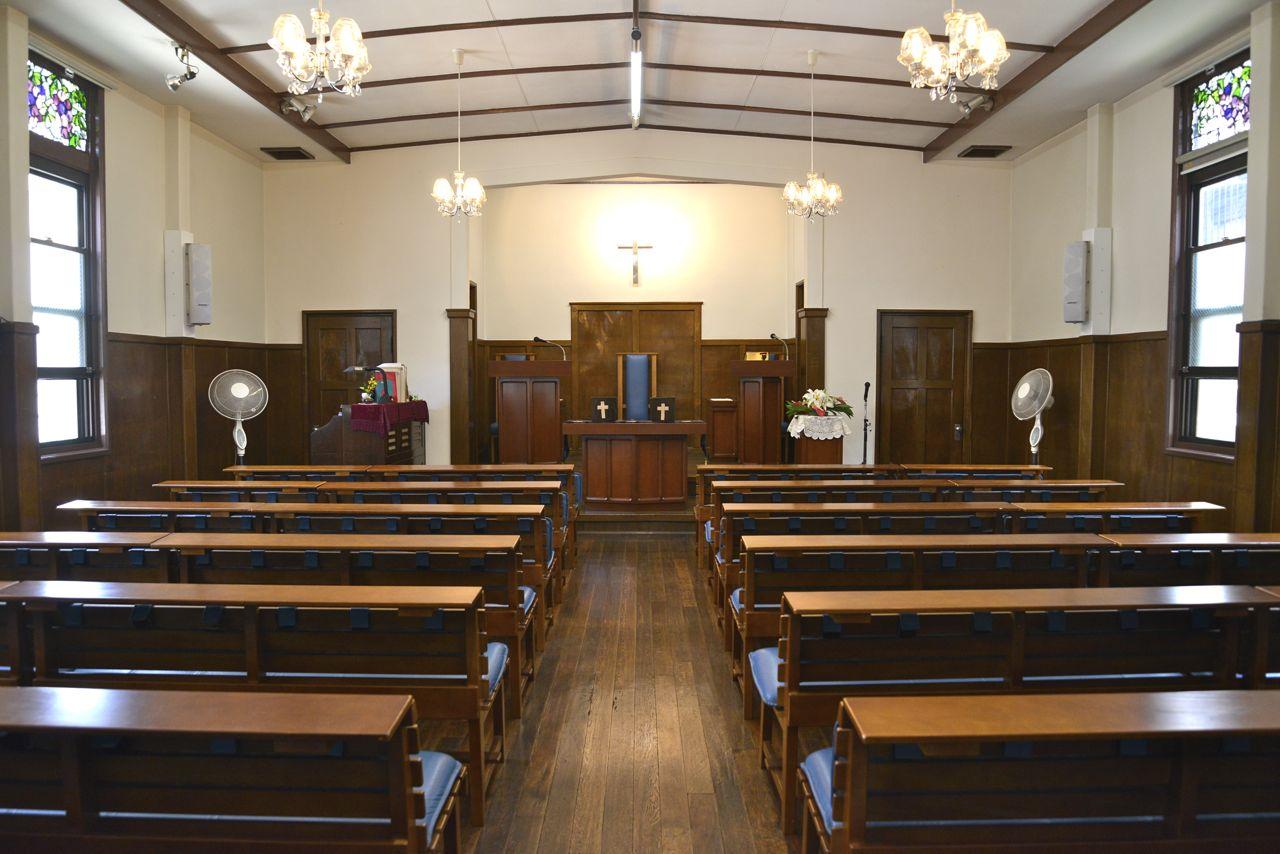 大阪大道教会の礼拝堂